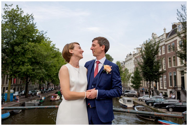 Bruidsreportage in Amsterdam